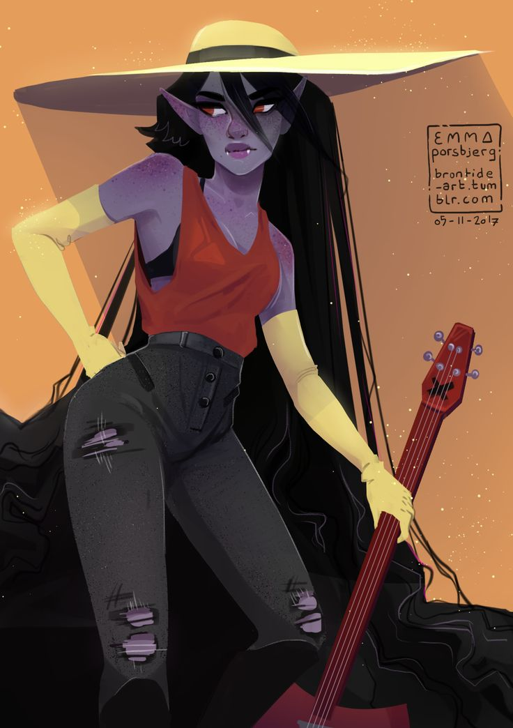 a Marceline! :> been so long since i last drew her and drawing this kinda kicked me out of my art block so that's all really nice!!