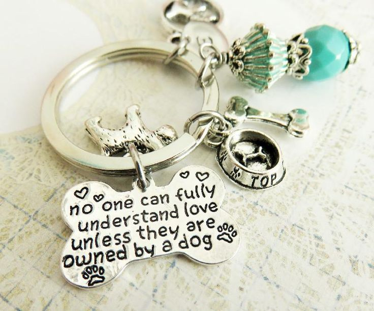 Personalized Dog Lovers Keychain, Pet Bag Charm. Handmade #dogs #animal #pets #keychain #dog
