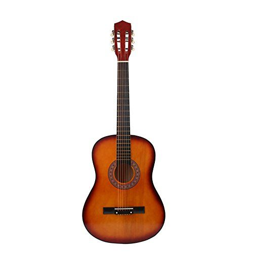 Muse MUSEUNLIMITED Sunset Yellow 38 Inches 6 Nylon Strings Beginners  Starter  Student  Adult Folk Acoustic Guitar Kits with Accessories -- You can find more details by visiting the image link.Note:It is affiliate link to Amazon.