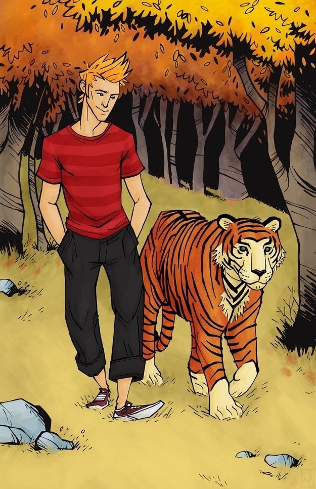 Calvin and Hobbes | 17 Cartoon Characters Drawn As Adults