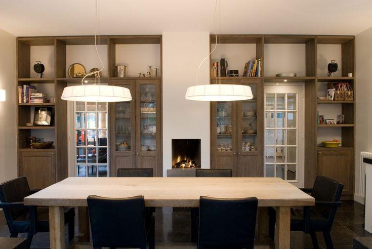 48 best open haard images on pinterest fireplaces villas and audio - Open haard keuken photo ...