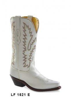 Botas de Senhora Texanas Cowboy Modelo LF1521E Marca Old WestMarca: Old WestRef: LF1521EEstilo: Botas Cowboy em peleCor: BrancoPerímetro do cano: 34 cmAltura tacão: 3,5 cmAltura cano: 33 cmFabricação: Goodyear WeltedForro: Pele