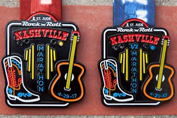 The RocknRoll Nashville Marathon, Half Marathon 5K - Contact us to book a trip there.   www.fittotravelvacations.com