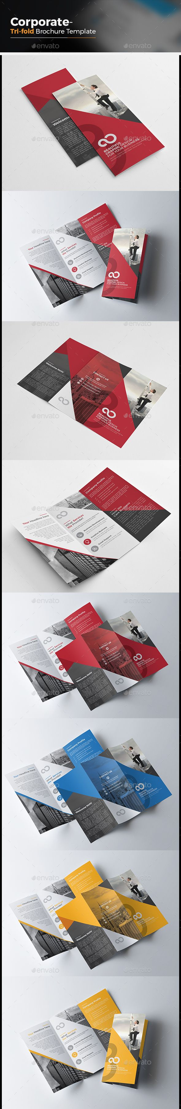 Corporate Tri fold Multipurpose Brochure Template Vector EPS, AI #design…