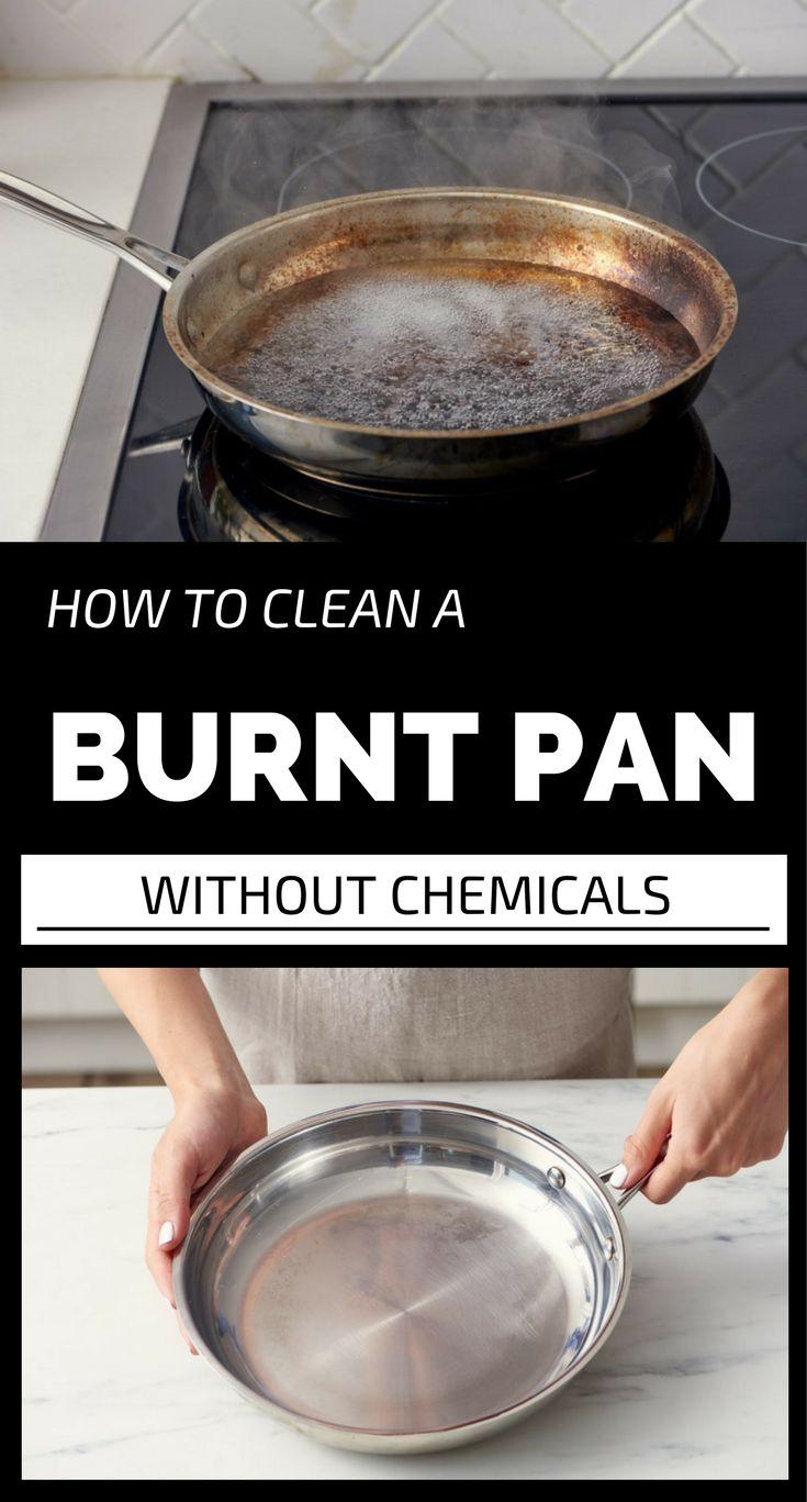 how to clean burnt teflon pan