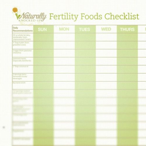 Free Fertility Foods Checklist: are you getting what you need?