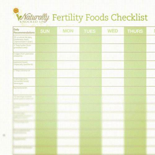 fertility foods checklist
