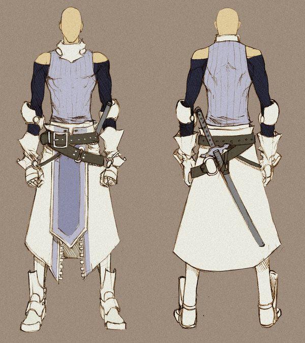 White Swordman - concept by MizaelTengu.deviantart.com on @deviantART ✤ || CHARACTER DESIGN REFERENCES | キャラクターデザイン