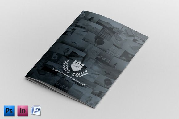 Corporate Brochure Report Template by Andre28 on @creativemarket