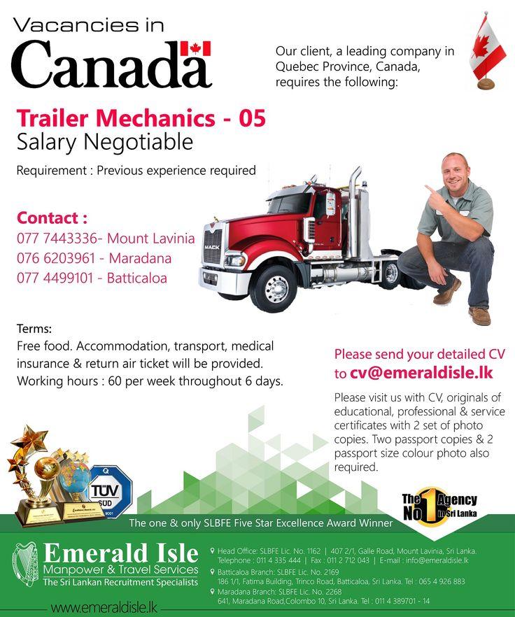 Foreign Vacancies Emerald Isle Manpower Sri Lanka
