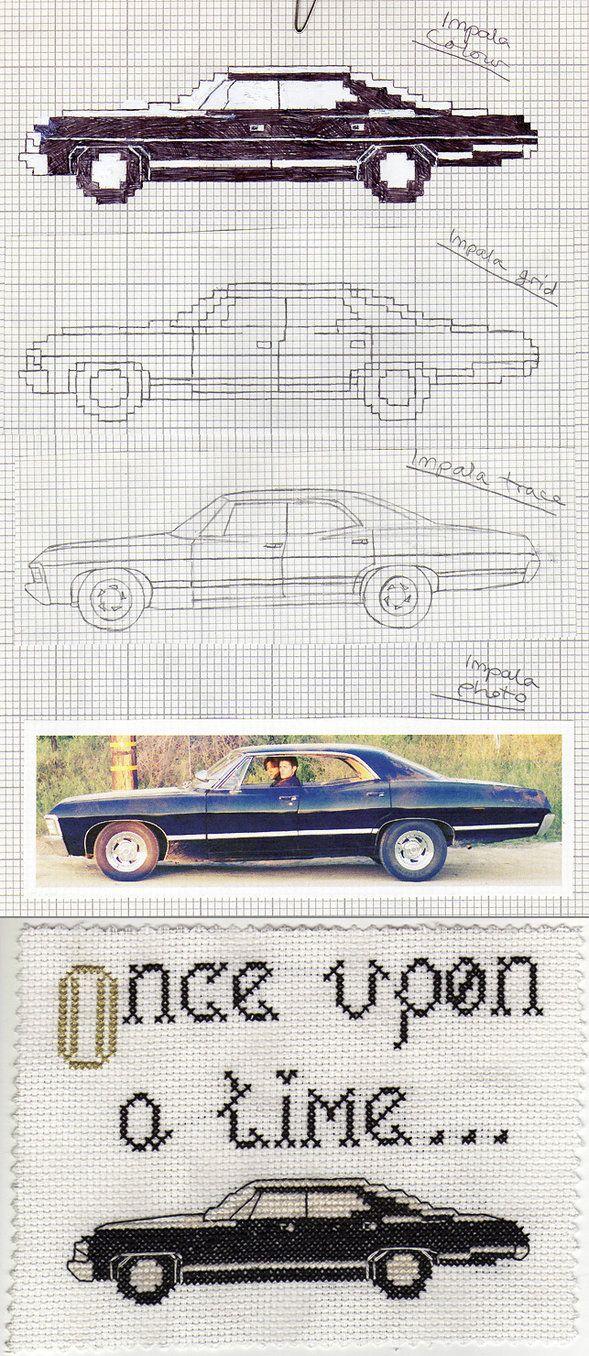 Impala cross-stitch by ~Crimefish on deviantART