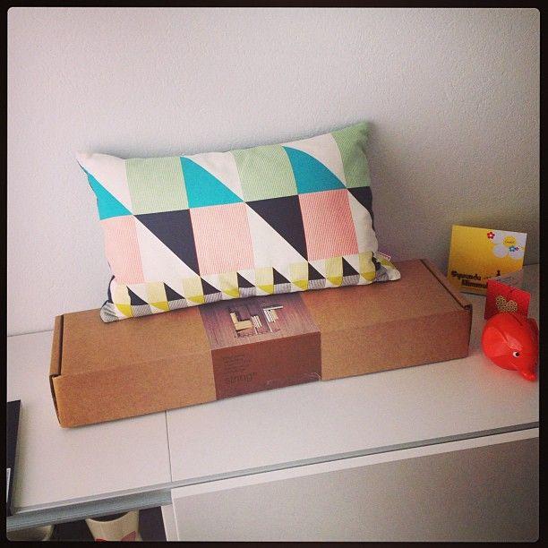 Gullfuglen cushion at home @ana venere   # funkle