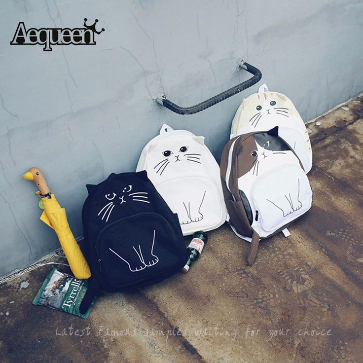 Nuevas mochilas escolares para adolescentes niñas lindo cat oxford mochila impresión mujeres mochila feminina bolsa casual mochila escolar