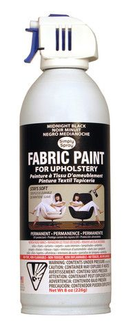 Upholstery fabric paint simply spray works great both for How does spray paint work