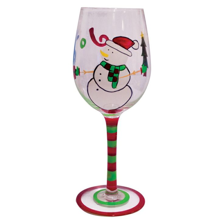 55 best images about glass painting on pinterest painted for Christmas painted wine glasses pinterest
