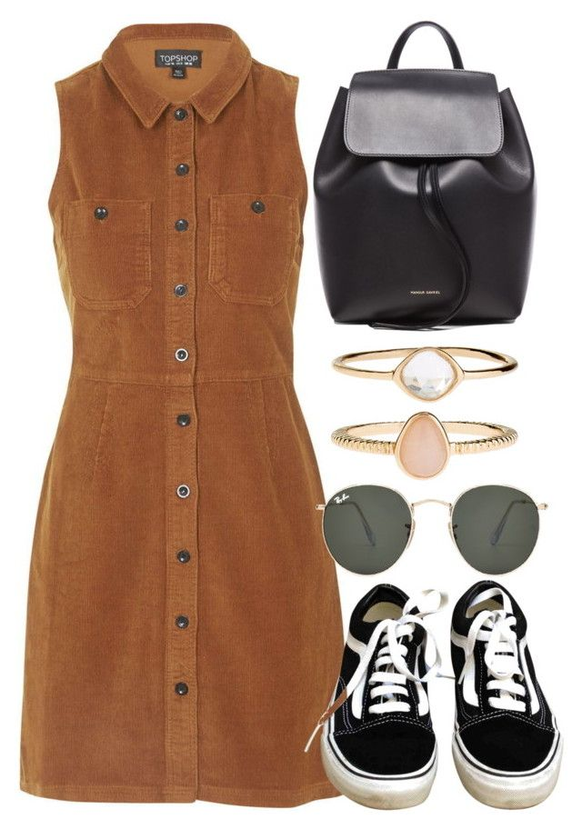 """Untitled #5773"" by rachellouisewilliamson on Polyvore featuring Topshop, Vans, Mansur Gavriel, Ray-Ban and Accessorize"