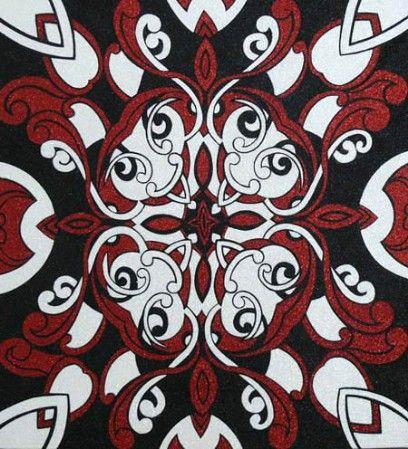 Rueben Paterson_Soloman Says_2008_glitterdust on canvas_560 x 600 mm_web