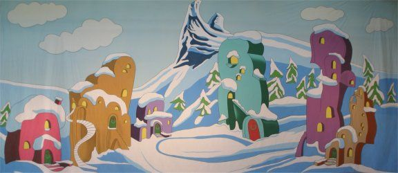 Whoville Backdrop Whoville Christmas Whoville Christmas
