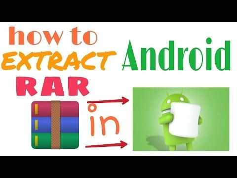 how to extract rar file in android