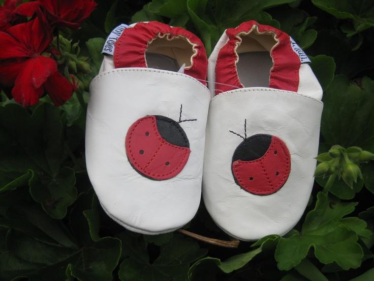 Ladybug Red  #TwoSoles #Red #Baby #Leathertoddlershoes