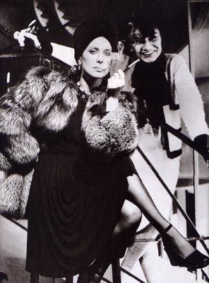 Catherine Deneuve and Coco Chanel by Helmut Newton