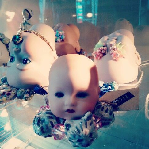 Our jewellery will open your eyes with this quirky new porcelain doll head jewellery display #jewellery #jewellerydisplay #porcelain #porcelaindoll #head #porcelaindollhead #dollhead #jewels #openeyes #openyoureyes #quirky #somethinginyoureyes #jewellsgetinmyeyes #jewellerydisplay