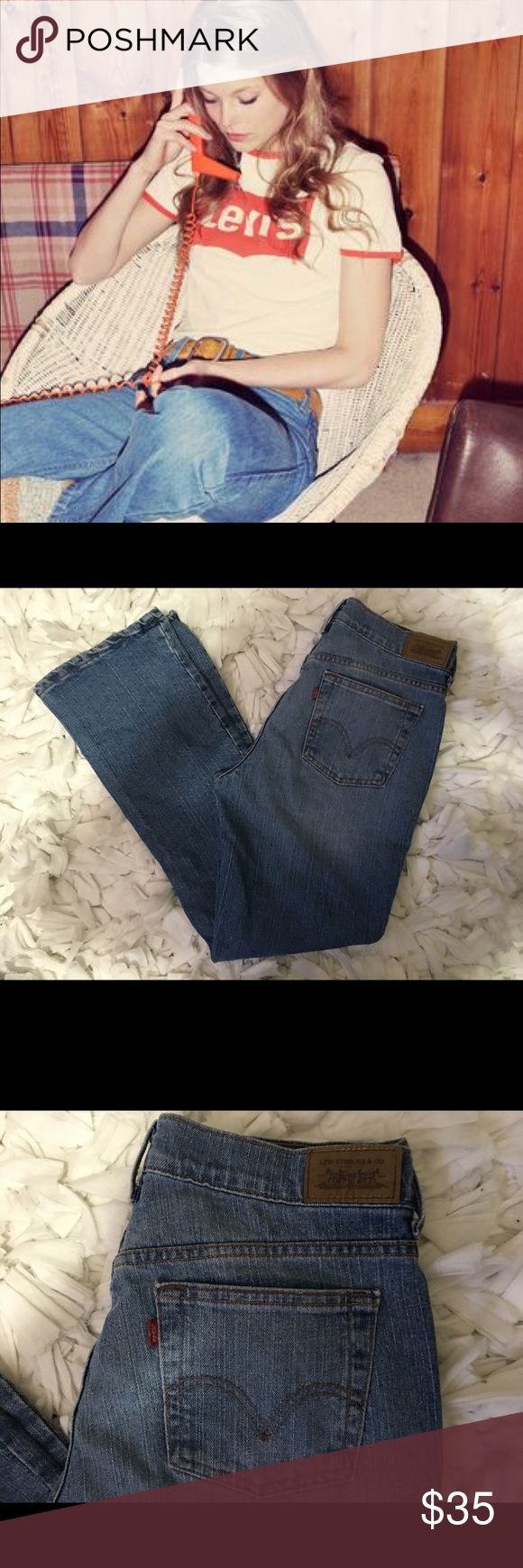 "Levis Levis jeans.  Style is 511.  Awesome orange & red stitching.  Tag reads 8M.  Measurements are 31 waist 31 inseam & 10""rise.  Gently worn.  Super comfy!!! Levi's Jeans Boot Cut"