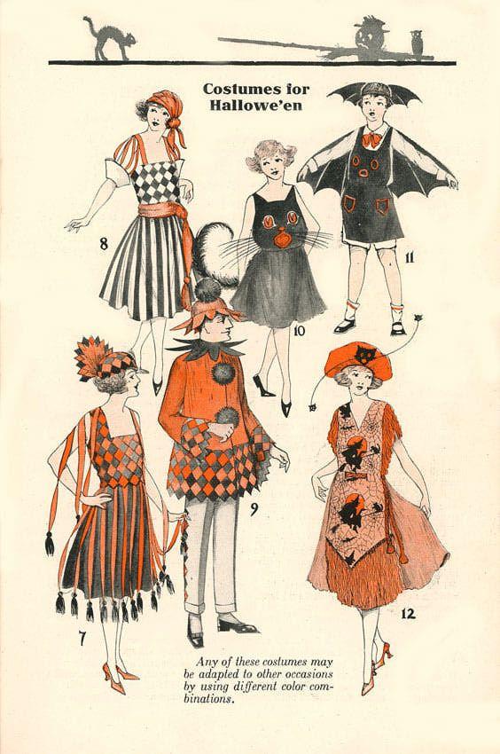 Antique Halloween Costumes | Vintage Halloween Costumes from Dennison Bogie Books