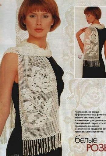 Chales en crochet - angeles marin - Álbumes web de Picasa