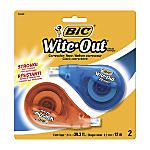 "for the bullet journal | BIC® Wite-Out® EZ Correct® Correction Tape, 472"", White, Pack Of 2"