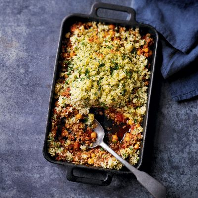 Moroccan minced beef (ground beef) or use ground lamb, pie