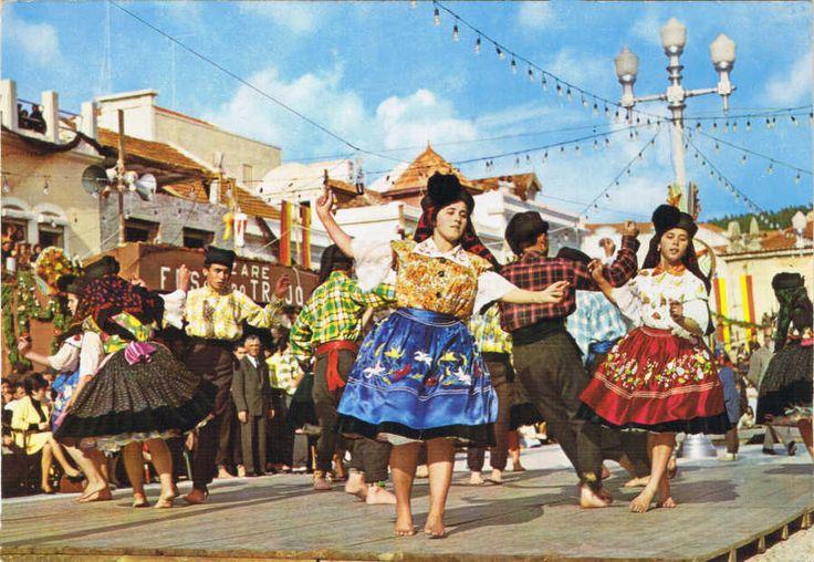 Nazaré dancers, Portugal