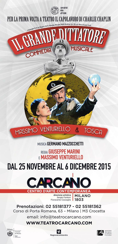 IL GRANDE DITTATORE | Teatro Carcano. Locandina ufficiale.