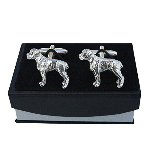 Luxury Fine Pewter Boxer Dog Cufflinks, Handcast by William Sturt  Price Β£12