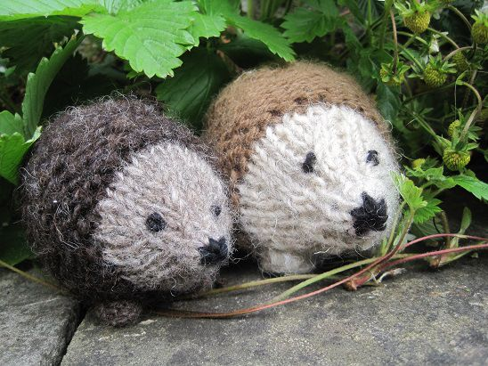 Sparkly Hedgehog Knitting Pattern : Knitted Hedgehogs Comment, Change 3 and Hedgehogs