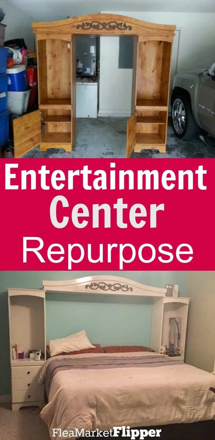 Upcycled Crafts Furniture Entertainment Center – Functional Entertainment Center Repurpose… #UpcycledCrafts #FurnitureEntertainmentCenter