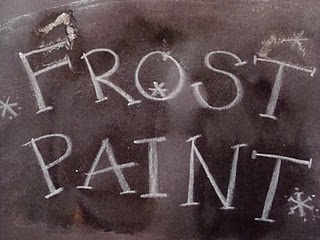 Frost paint for projects or kid crafts with epsom salts and boiled