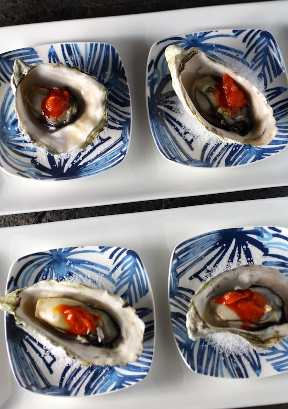 Oysters Korean Style with Gochujang Butter -- Shake on the taste of butter with Molly McButter, only 5 calories per serving - mollymcbutter.com #oysters #grilling #buttery