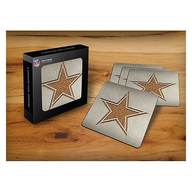 NFL Dallas Cowboys Stainless Steel Coasters 4-Pack | Home Decor | Home & Office | Accessories | Cowboys Catalog | Dallas Cowboys Pro Shop