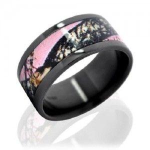 BLACK DIAMOND ENGAGEMENT RINGS   ... engagement ring, Pink in Style → pink camo engagement ring black