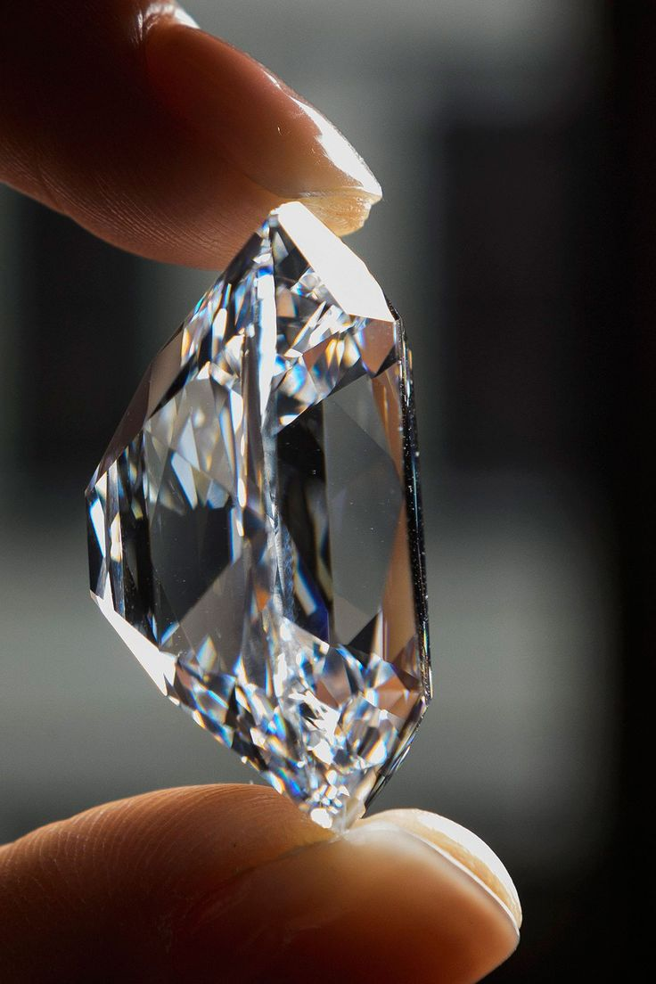 Side view of the Archduke Joseph Diamond, 76 cts. This cushion-cut diamond once set the world record at auction for a colorless diamond.
