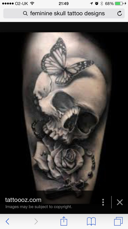 17 best ideas about feminine skull tattoos on pinterest for Pretty skull tattoos