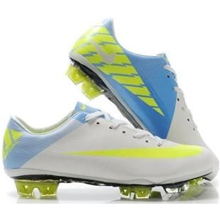 www.asneakers4u.com Mens Soccer Cleats Nike Mercurial Vapor SuperFly III FG In White Fluorescence Blueout of stock