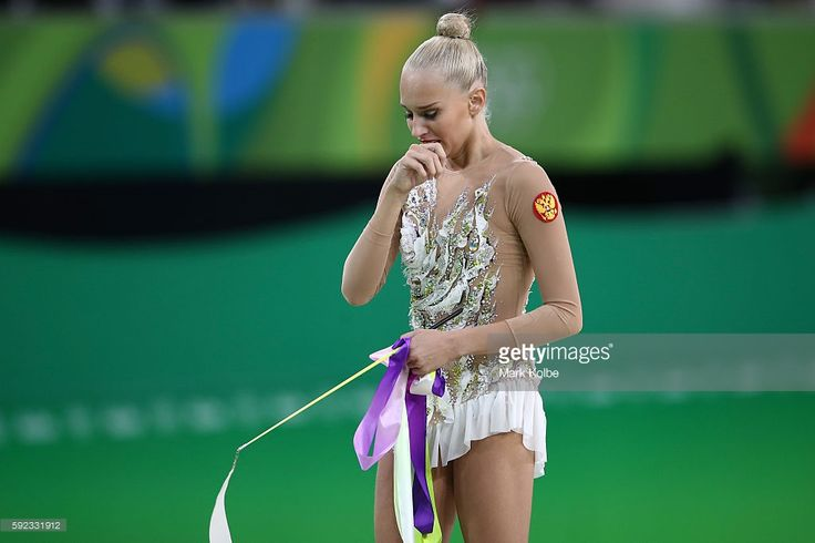 Yana Kudryavtseva of Russia competes during the Women's Individual All-Around Rhythmic Gymnastics Final on Day 15 of the Rio 2016 Olympic Games at the Rio Olympic Arena on August 20, 2016 in Rio de Janeiro, Brazil.