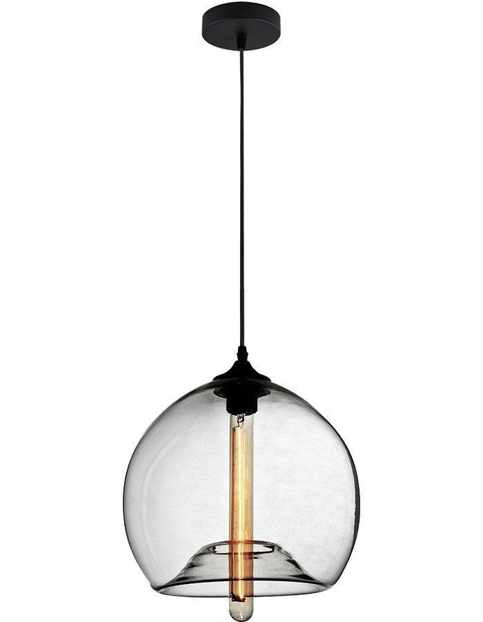Polo Clear Glass Pendant Light  The Polo is the perfect example of how hand blown glass plus pendant equals spectacular on trend industrial style. Funk it up with some smoky style and you have the ultimate in pared back city suave. These lights are ideal if you are looking to light your minimalist kitchen, industrial living area, or hole in the wall cafe.