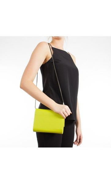 Leather Flapover Chain Strap Small Bag