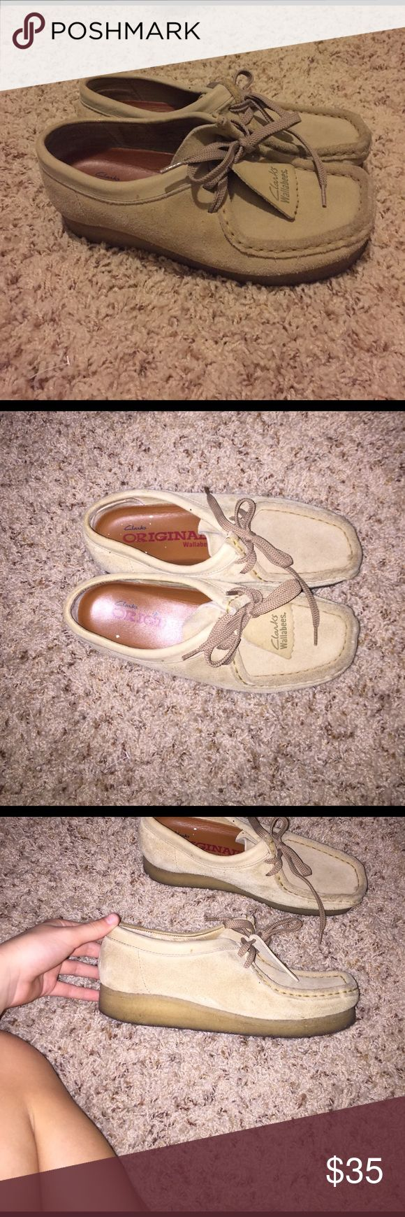 Women's Clarks wallabies Worn a few times but in good shape, mostly for school uniform Clarks Shoes Flats & Loafers
