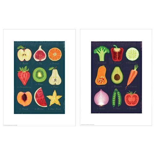 TVILLING Πόστερ, φρούτα και λαχανικά 2 τεμ. - IKEA 5.99