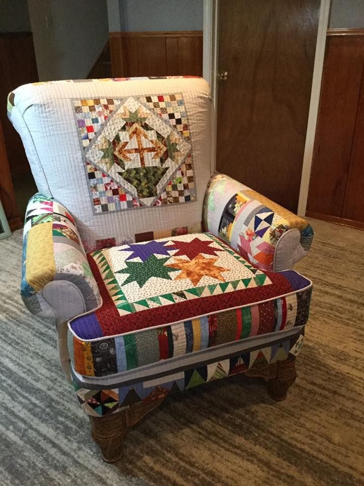 Quilt Covered Chair Patchwork Furniture Patchwork Chair Chair