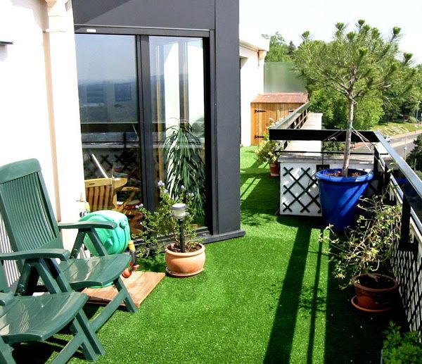 Ideas Decoracion Terraza Cesped Artificial ~ Una buena idea Pon c?sped artificial en tu terraza